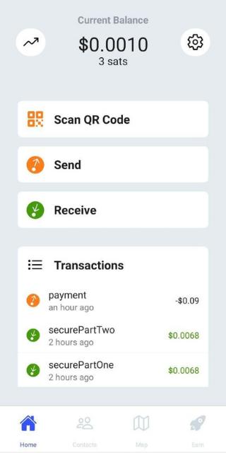 Bitcoin Beach wallet 1